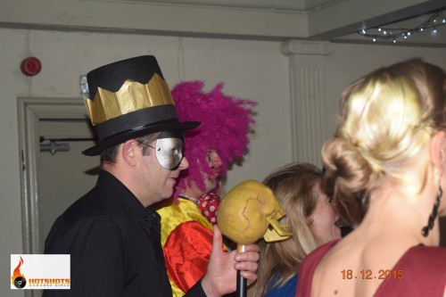 Great times at a corporate event with fancy dress