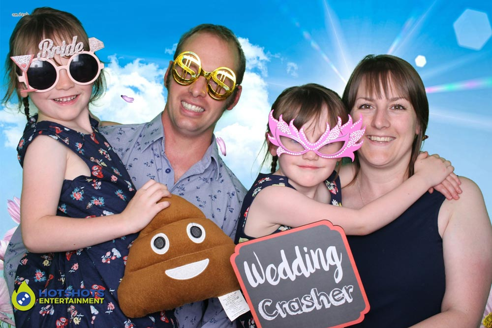Great fun at a wedding with the poo emoji, great photo
