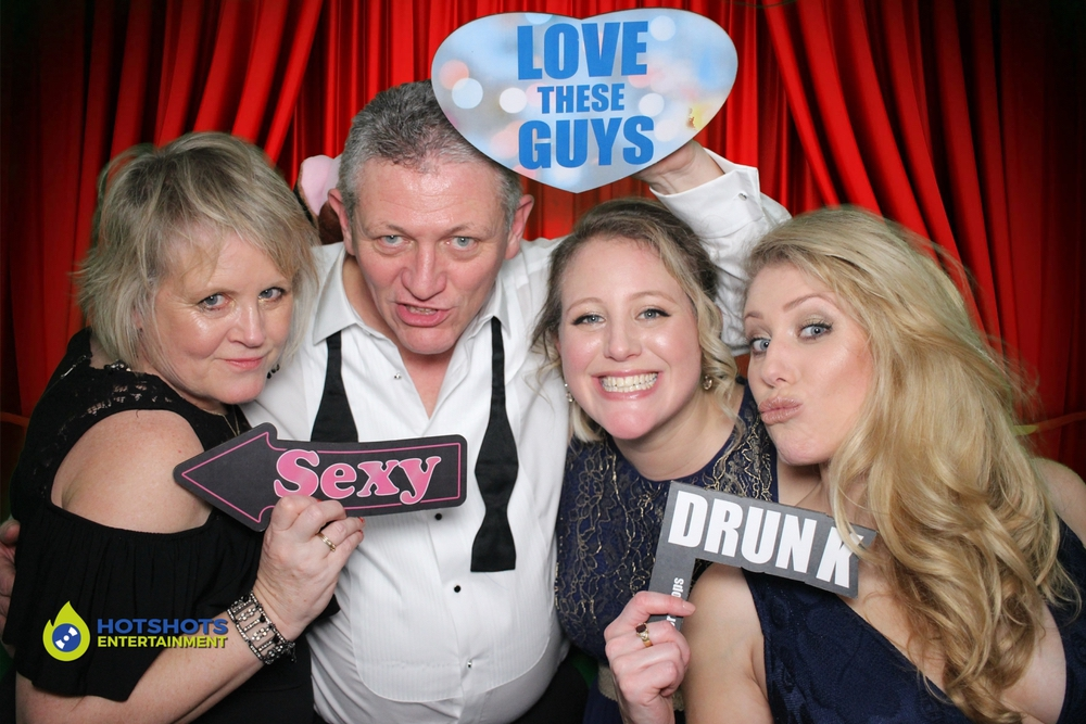 Photo booth hire at Bath Race Course for a charity event.