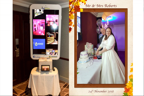 HotSelfie is the latest craze at weddings, take picture form your own phone and upload them to our large TV.