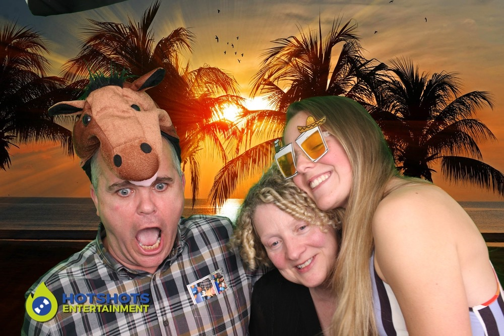Horsing around in the photo booth hire.