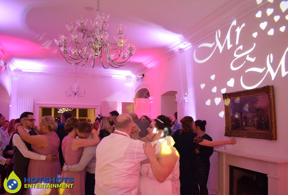 Old Down Manor wedding DJ services, first dance with the happy couple.