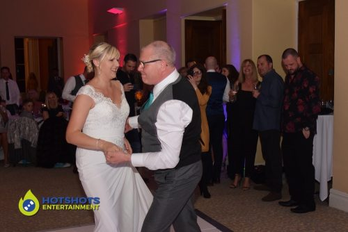 Leigh Court wedding, partying the night away with Dad.