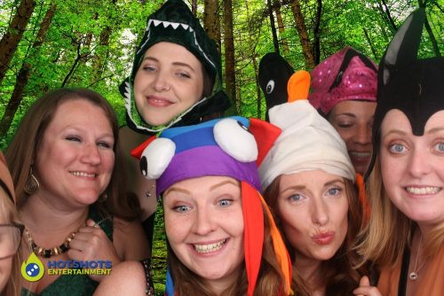 great fun with the green screen in the wedding photo booth
