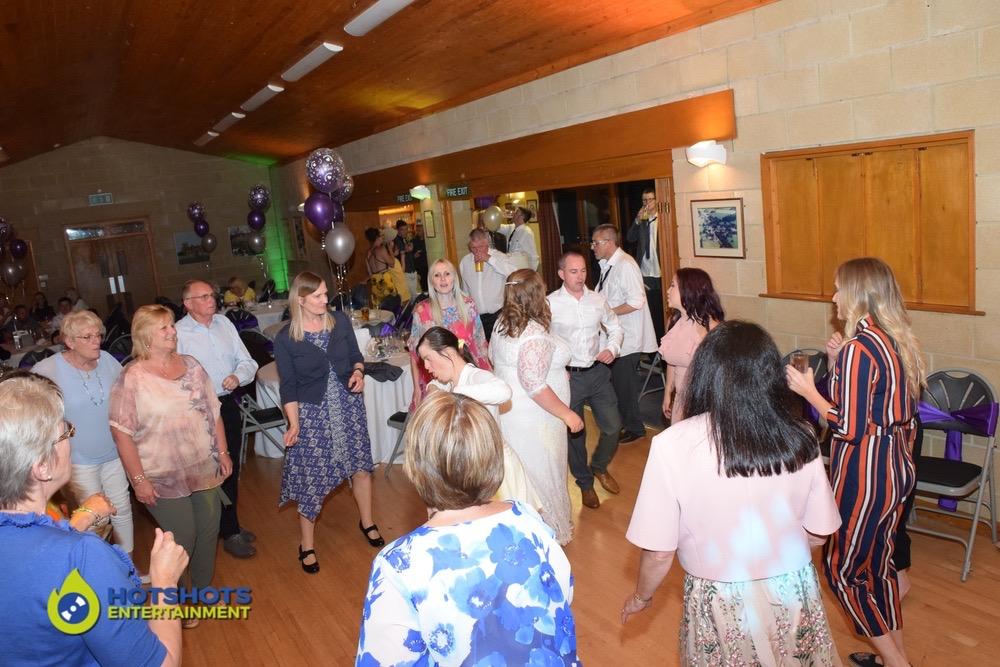 Horton Village hall wedding guests