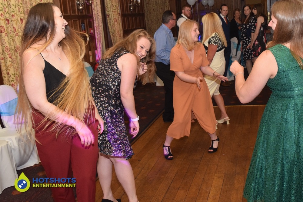 Wedding guests twerking on the dance floor
