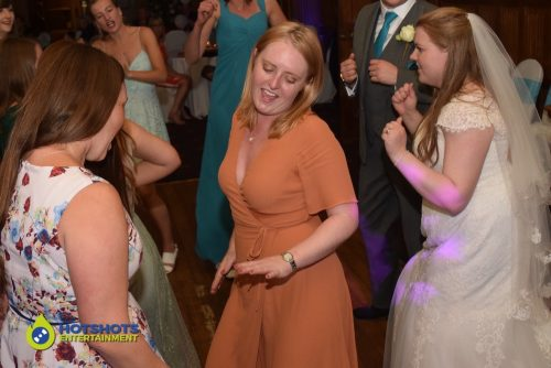 Wedding guests getting in to the groove.