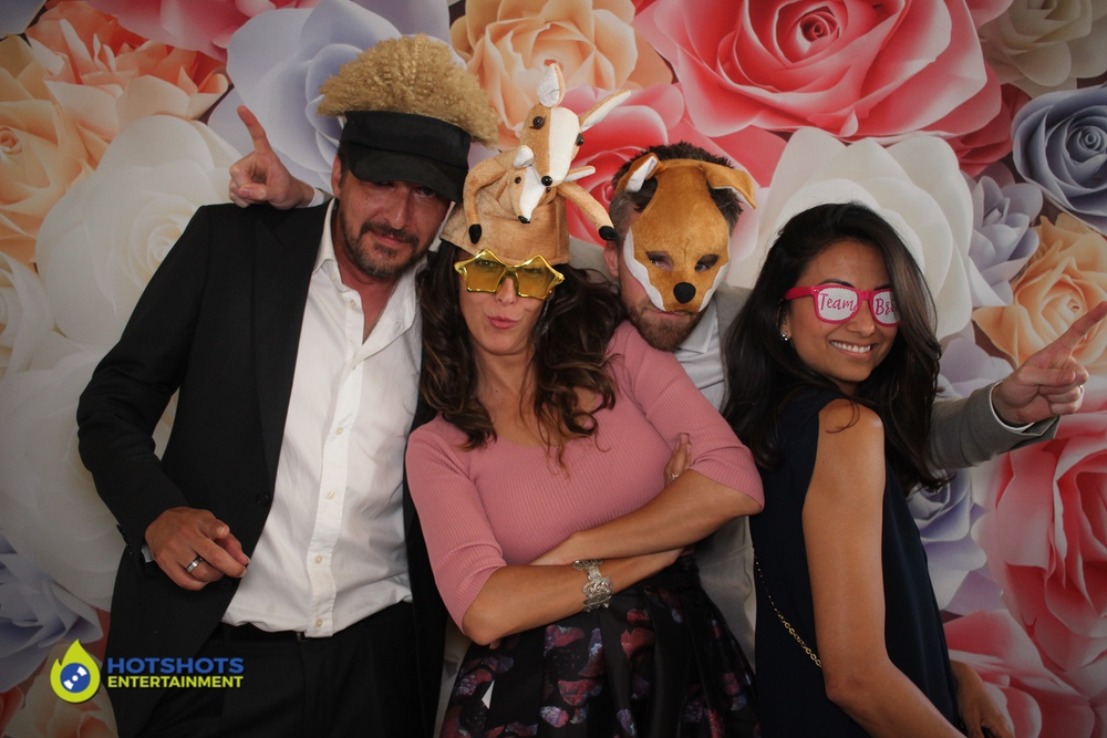Great fun in the rustic photo booth