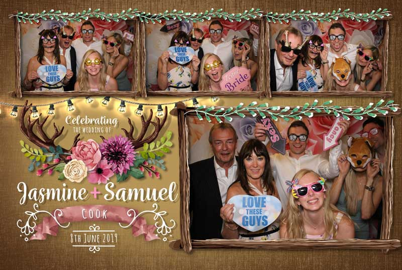 So much fun in the photo booth, with a great template design.