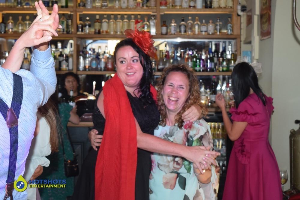 Wedding guests loving the dance floor