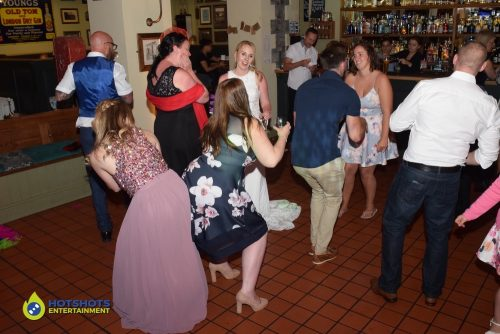 Wedding guests loving the tunes.