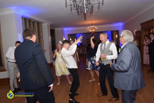 Wedding guests blasting it out on the dance floor