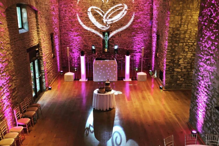 Priston Mill Tythe Barn platinum disco by Hotshots Entertainment