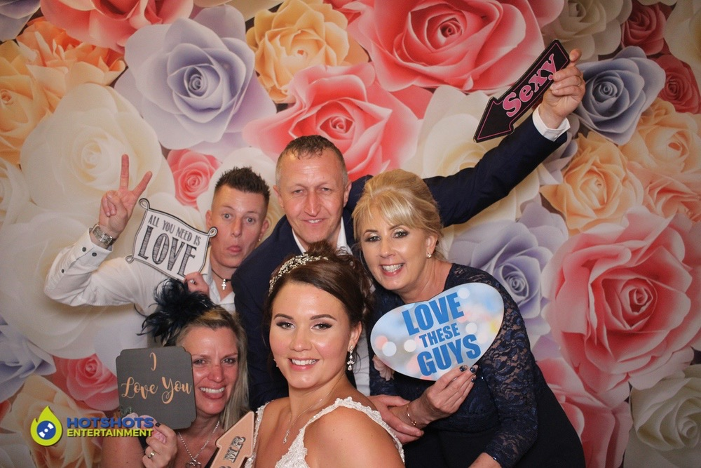 Bride and guests loving the photo booth