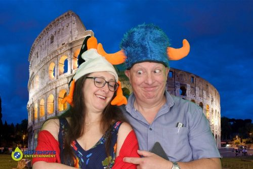A trip aorund the world in the photo booth, using green screen technology
