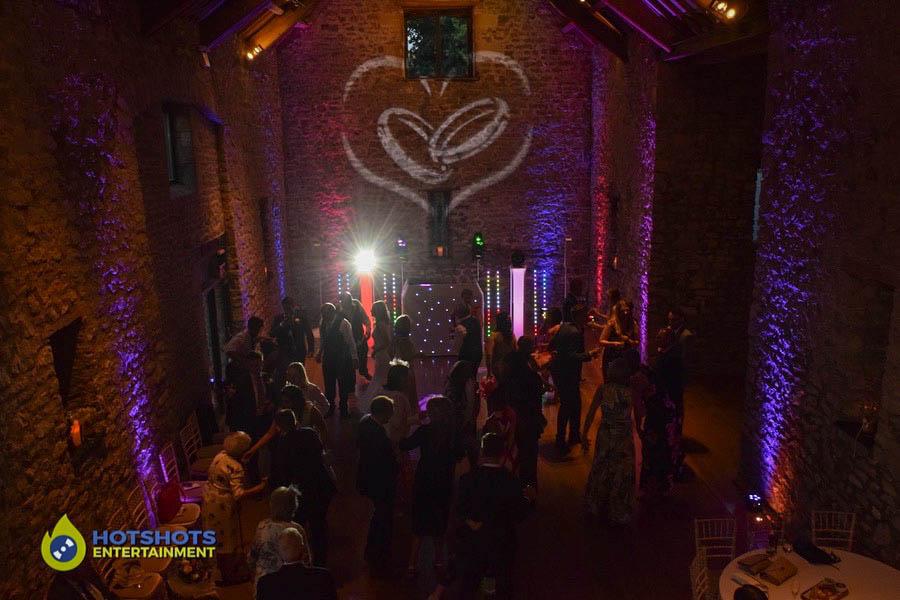 Priston Mill Tythe barn platinum disco set up