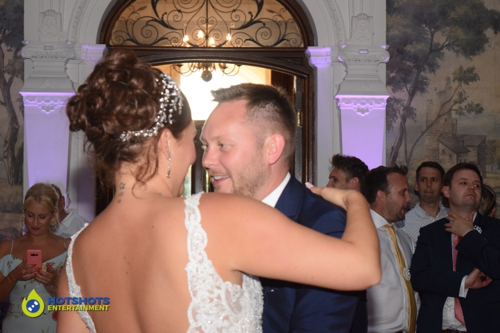 The first dance with the happy couple