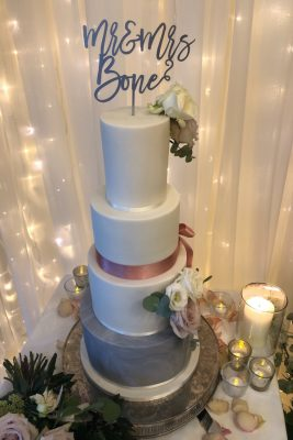 Wedding cake at Homewood Park