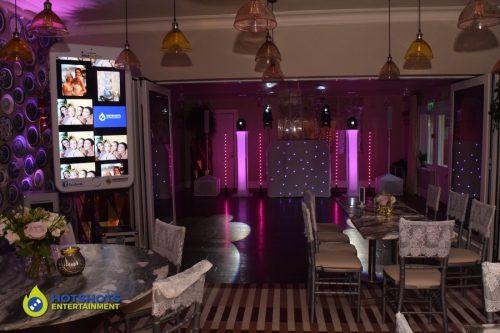Homewood park wedding venue with full disco set up, wedding DJ and HotSelfie