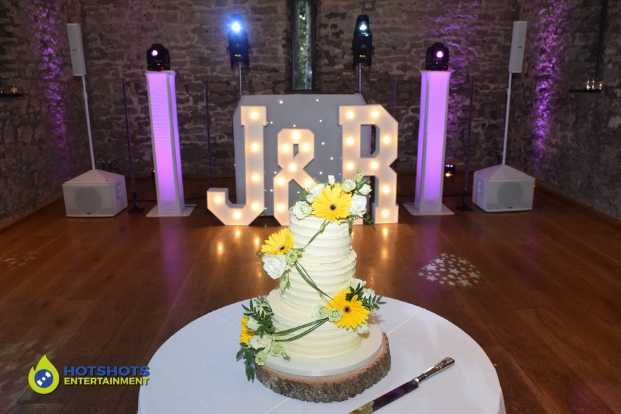 Wedding cake at Priston Mill