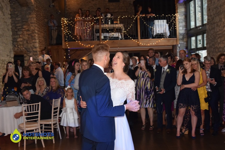 Bride and Groom first dance at Priston Mill
