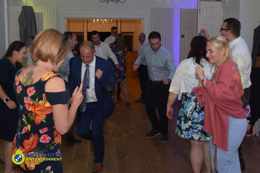 Wedding guests dancing the night away at Old Down Manor