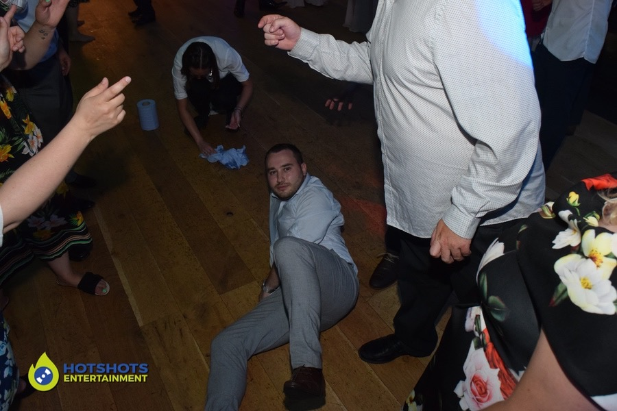 Just chilling on the dance floor, waiting for the drop.