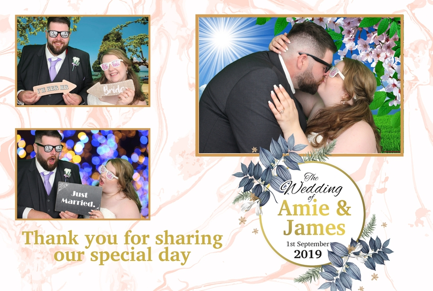 Template design for the happy couple, with green screen background.