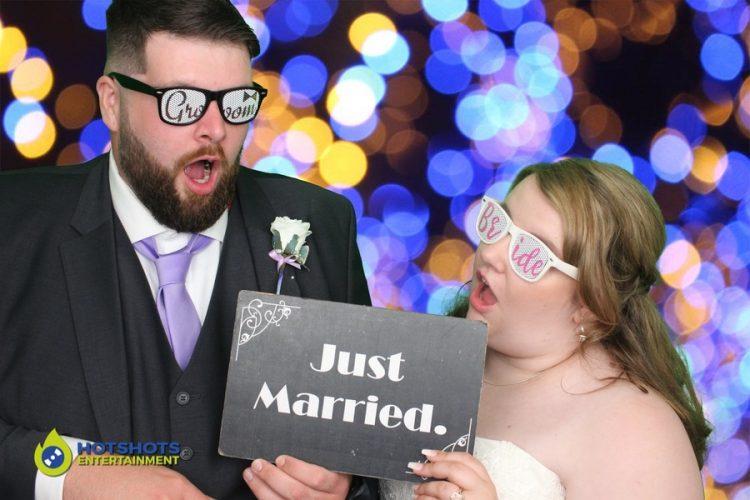 Wedding Bride and Groom having fun