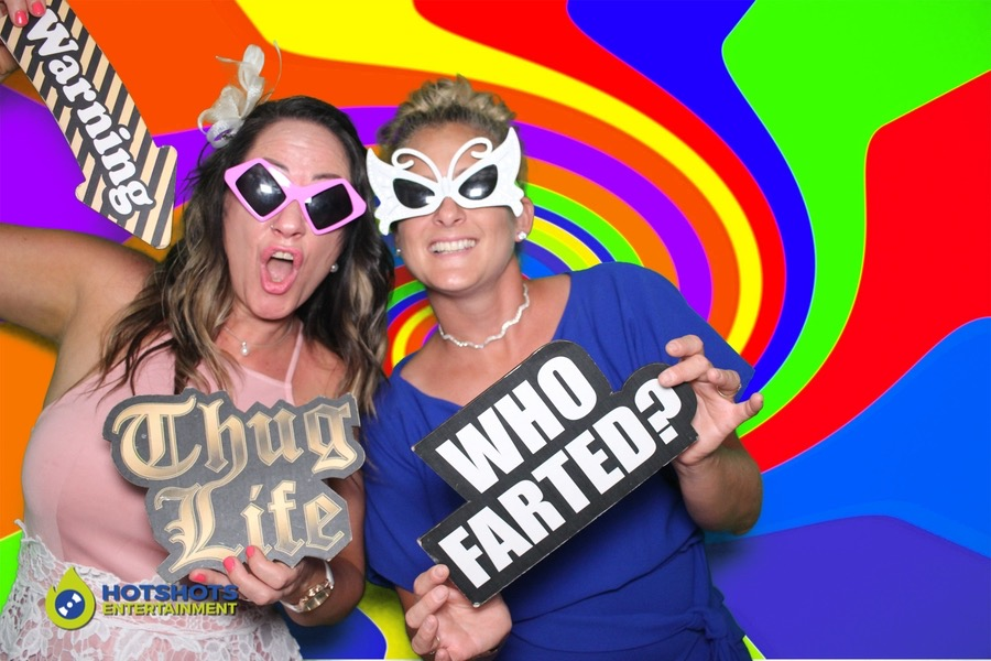 So much fun in the photo booth using props and green screen