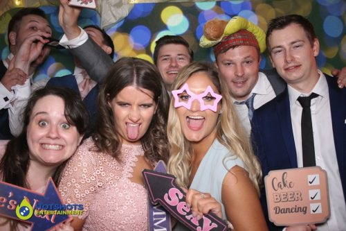 Green screen fun with the wedding guests