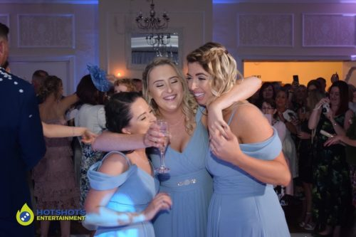 bridesmaids on the dance floor