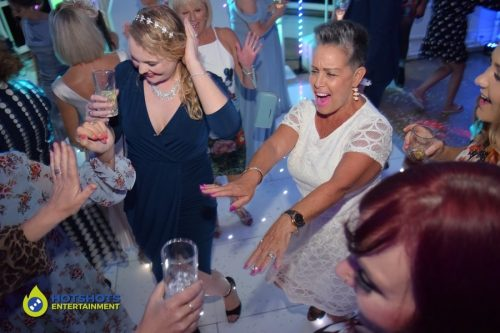 The best wedding ever on the white LED dance floor