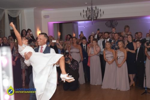 Bride and groom with there first dance