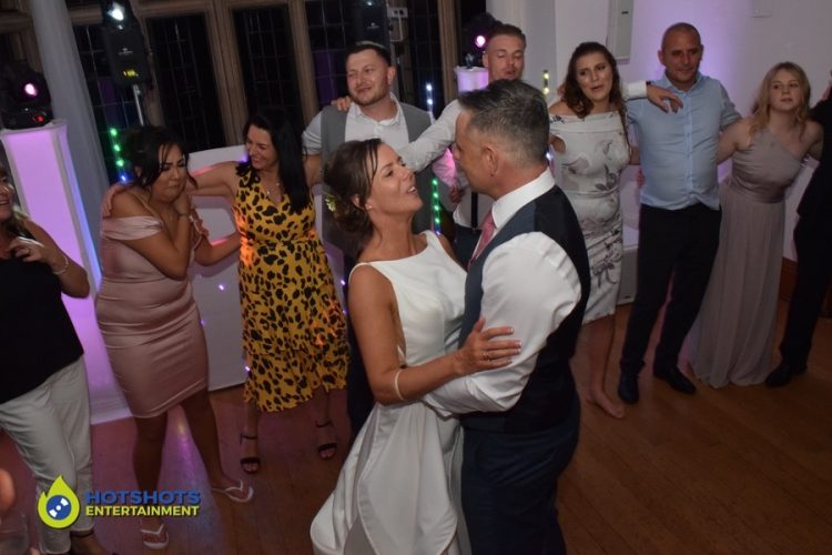 Bride and Groom at Coombe Lodge on the dance floor