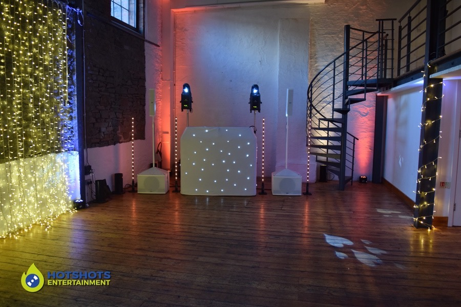 Wedding DJ silver package from Hotshots Entertainment at the Paintworks Event space