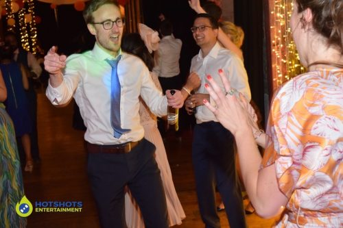 Wedding guest having the best time ever