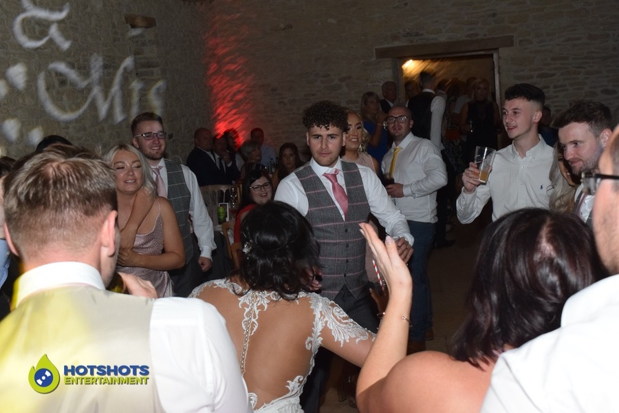 Time to bust the moves out, Bride and Groom loving Dizzee Rascal Bonkers