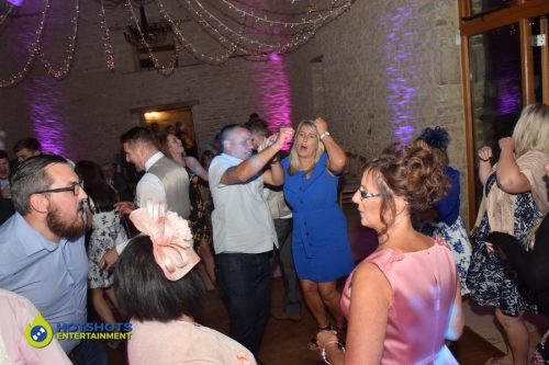 Wedding guests partying the night away