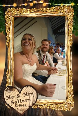 iPhone picture of the bride and groom