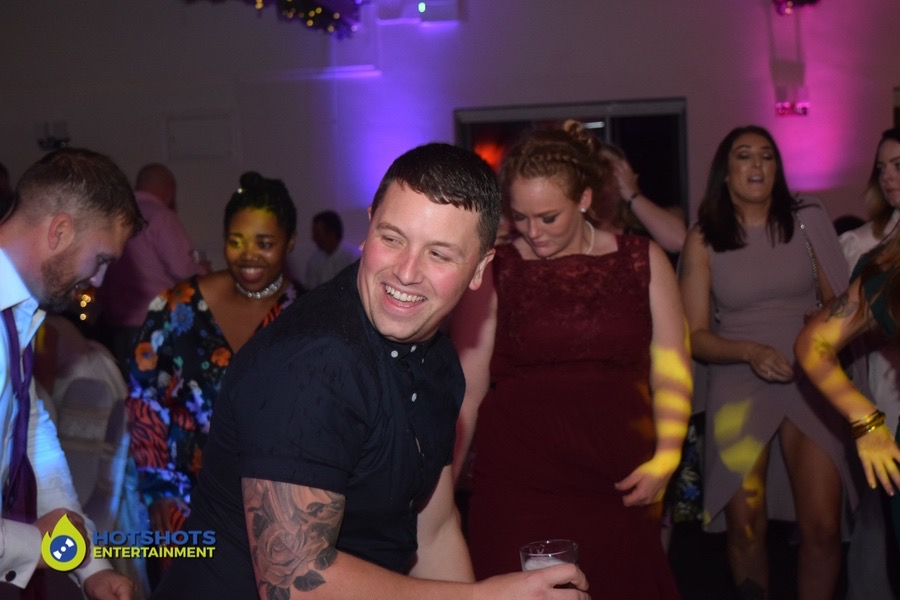 Having the best time ever at a wedding, dancing the night away