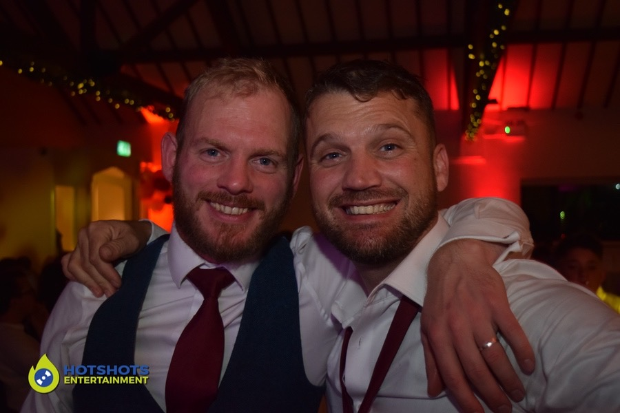 Groom and bestman having a picture