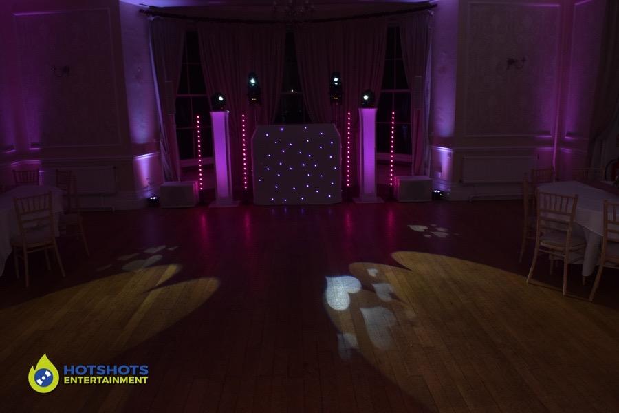 Platinum disco at Eastington Park for a wedding