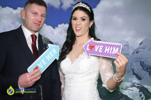 Bride and Groom in the photo booth