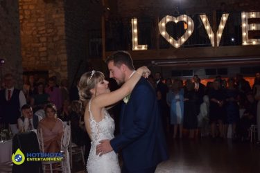 First dance from Bride and Groom at Priston Mill Tythe Barn