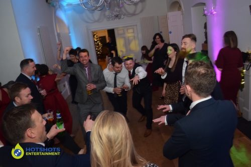 The rugby lads on the dance floor at a wedding